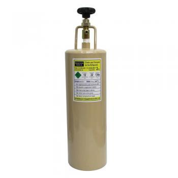 Cilindro Gás Refrigerante R12, R22, R134a 2kg Com Manopla E Válvula De Seg