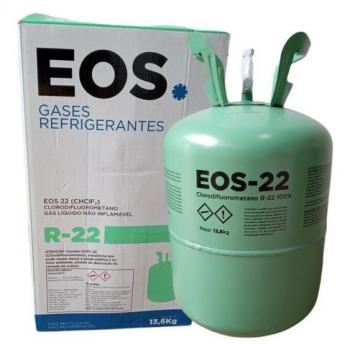 R22 Eos - Onu 1018 Clorodifluormetano Gás R22 Cilindro De 13,6Kg Cl. Rs. 2.2