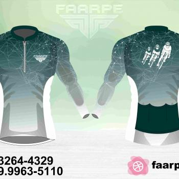 Kit 10 Camisetas Ciclismo Manga Longa Personalizado FAARPE #002