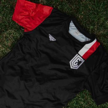 Camiseta VEC Oficial - Pro Soccer - Com Número 10 - Preta Slim