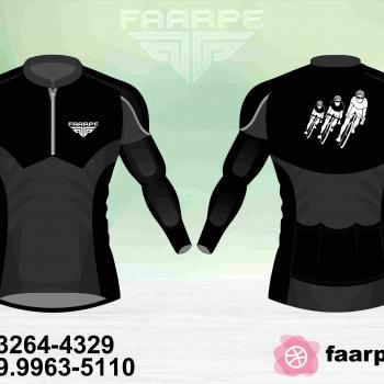 Kit 10 Camisetas Ciclismo Manga Longa Personalizado FAARPE #004