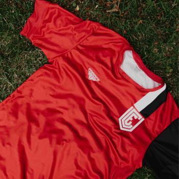 Camiseta VEC Oficial - Pro Soccer - Com Número 10 - Vermelha Slim
