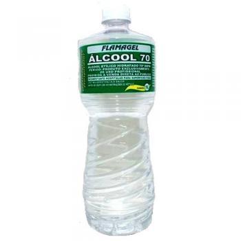ALCOOL LIQUIDO 70 INPM ETILICO FLAMAGEL 1L