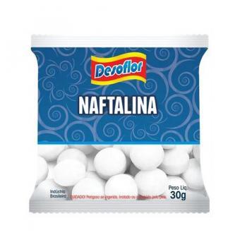 NAFTALINA EM BOLAS (PACOTE C/30G.) DETERLIMP