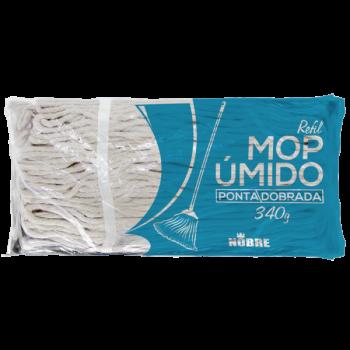 MOP UMIDO (REFIL 340G. 70% ALGODAO 30% POLIESTER PONTA DOBRADA C/LOOP) NOBRE