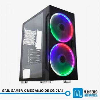 GABINETE GAMER K-MEX ANJO DE COMBATE CG-01A1 PRETO