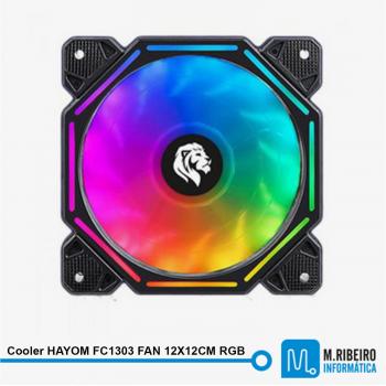 Cooler HAYOM FC1303 FAN 12X12CM RGB