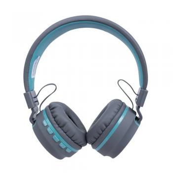 Headset Bluetooth Candy Hs310 Cinza/azul Claro Oex