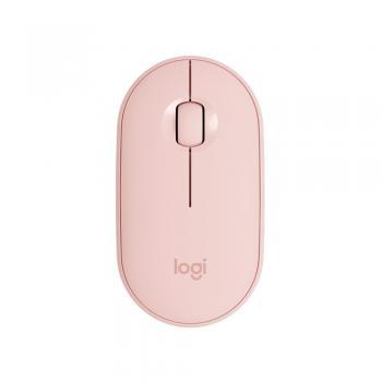 Mouse Optico Wireless M350 Pebble Rose Logitech
