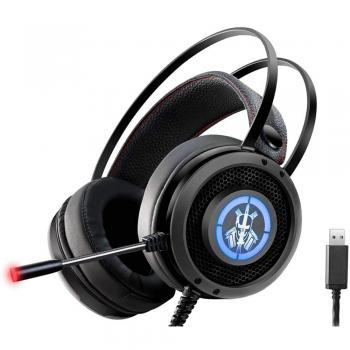 Headset Gamer Stereo c/Microfone Preto RGB AR-S6 K-MEX