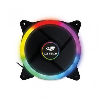 Cooler Fan p/ Gabinete 120x120x25 LED 5 Cores F7-L120M C3 TECH