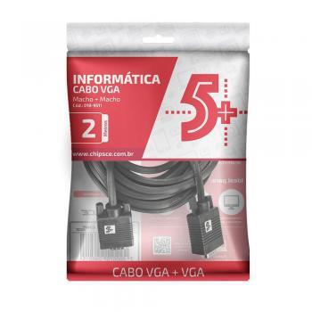 Cabo VGA P/Monitor 2m C/ Filtro 018-9511 5+