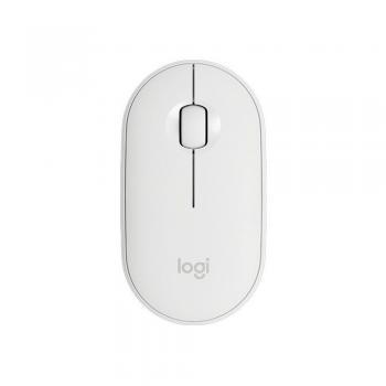Mouse Optico Wireless M350 Pebble Branco Logitech