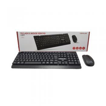 Kit Wireless Teclado e Mouse Preto K-W11BKV2 C3 PLUS