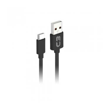Cabo Micro USB 2.0 AM x USB 2m Preto CB-M20BK C3 PLUS