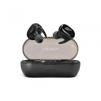 Fone de Ouvido Bluetooth 5.0 EP-TWS-50BK Preto C3 TECH