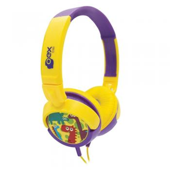 Headphone Infantil Dino HP300 Amarelo/Roxo 48.5813 OEX