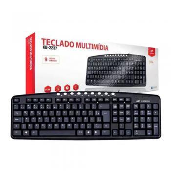Teclado Multimidia KB2237BK Preto USB C3 TECH