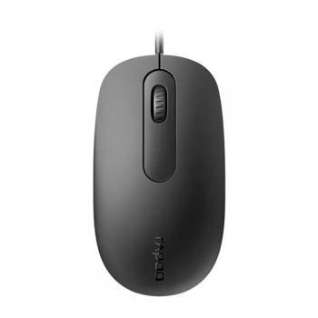 Mouse Optico Com Fio N200 Preto USB RA016 Rapoo