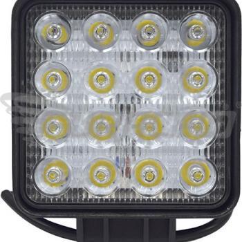 FAROL AUX.16LEDS 12/24V 48WQD BRIWAX LED QUADRADO