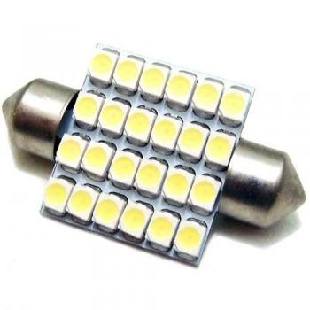LED TORPEDO 41MM 24 SMD 1210 12V BRANCO