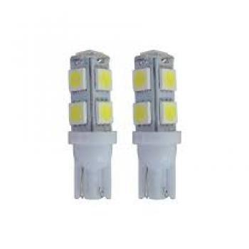 LED ESMAGADA T10 TORRE 9 SMD 5050 12V BRANCO
